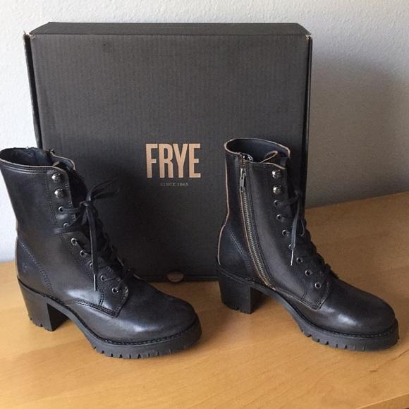 Frye Sabrina Moto Lace Up Boots Nwb